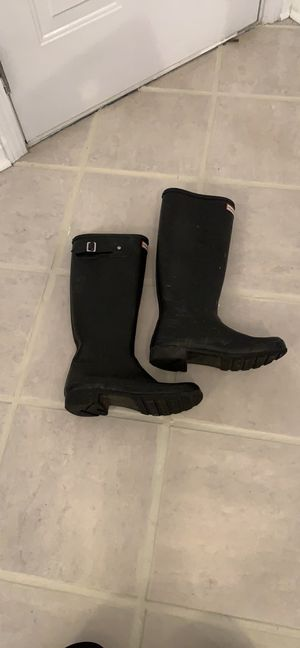 Hunter black rain boots EUC Sz 9 Worn twice orig $229 for Sale in Charlotte, NC