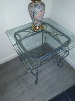 Glass coffee table with two matching end tables for Sale in Las Vegas, NV