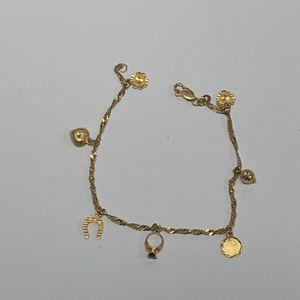 18k Gold Charm Bracelet 5.7 Grams GS for Sale in Los Angeles, CA