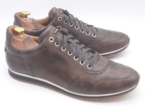 Mens Magnanni Size US 10.5 'Pueblo' Sneakers Leather Grey Shoes Lace Up #17950 for Sale in Hayward, CA