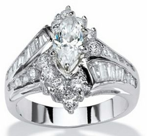 10K White Gold Filled Marquise Cut Ring for Sale in Knoxville, TN