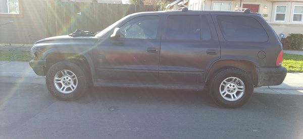 My 2002 Dodge Durango V8 4 wheel drive. Has a pretty much brand new transmission in it. Motor runs like a champ It .