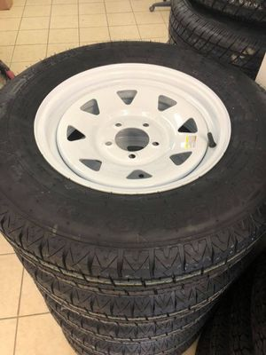 """$65 15"""" 5 Lug Trailer Tires - Sale - Warranty - New date codes - Will install for free - 205/75/15 Trailer tires - We carry all trailer tires - 15"""" 5 for Sale in Plant City, FL"""