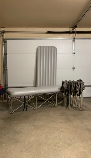 Camping cots with inflatable mattresses for Sale in Amarillo, TX