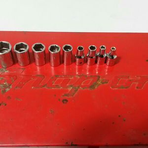 1/4 Drive 9 Piece Snap-on sockets and Box SAE for Sale in Chicago, IL