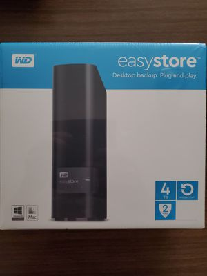 WD - easystore 4TB External USB 3.0 Hard Drive - Black for Sale in Indianapolis, IN