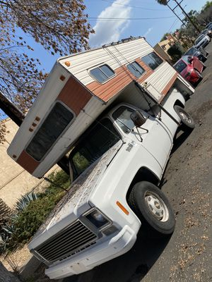 1977 Chevy c20 truck with Camper for Sale in Los Angeles, CA