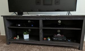 """58"""" WOOD TV STORAGE CONSOLE CHARCOAL for Sale in Lodi, CA"""
