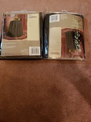 2 sets of vinyl and material table cloths for Sale for sale  New Brunswick, NJ