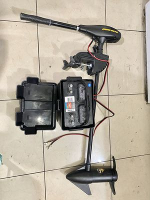 NEW minn Kota trolling motor 50 lbs thrust with new battery for Sale in Midway City, CA