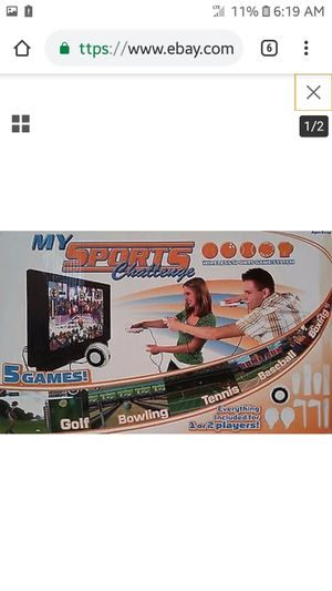 My-Sport-Challenge-5-in-1-White-Plug-Play-TV-Game for Sale in Waynesville, MO