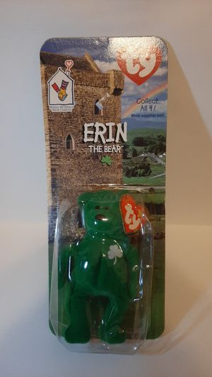 Erin the bear beanie baby for Sale in Garland, TX
