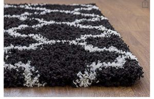 Black and white rug in great condition for Sale in Washington, DC
