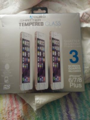 3pk tempered glass screen protector for iphone 6,7,8 plus for Sale in Cocoa, FL