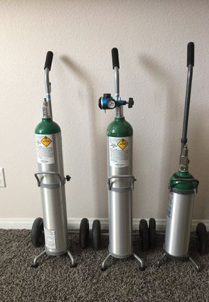 Catalina Oxygen Cylinders, trolleys & regulator for Sale in Henderson, NV