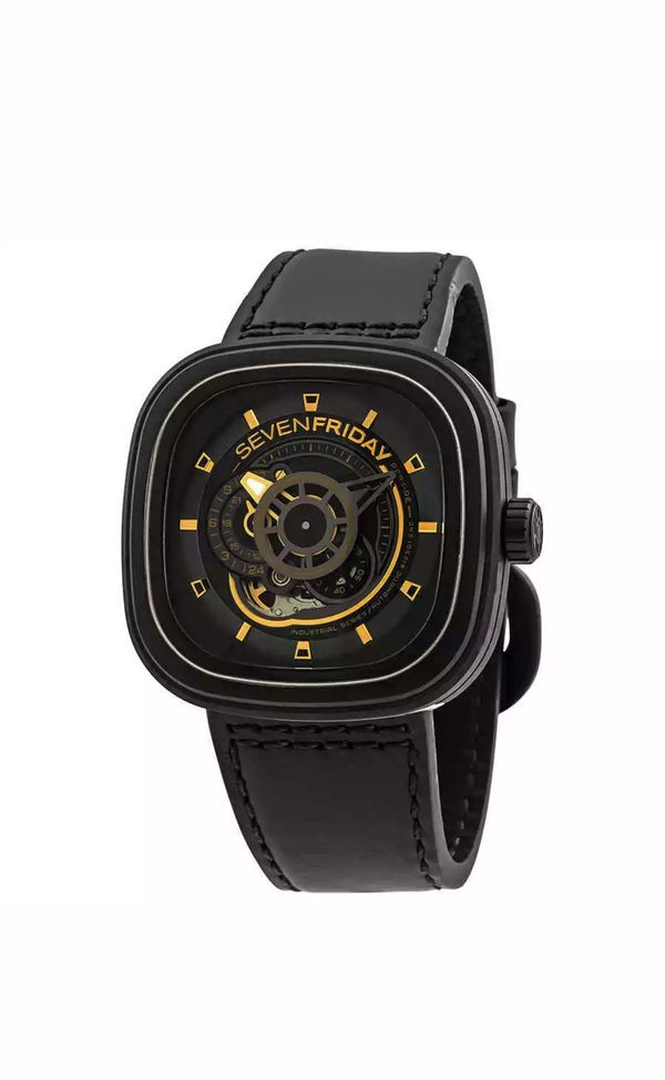 Seven Friday watch black 48mm like new. Firm price