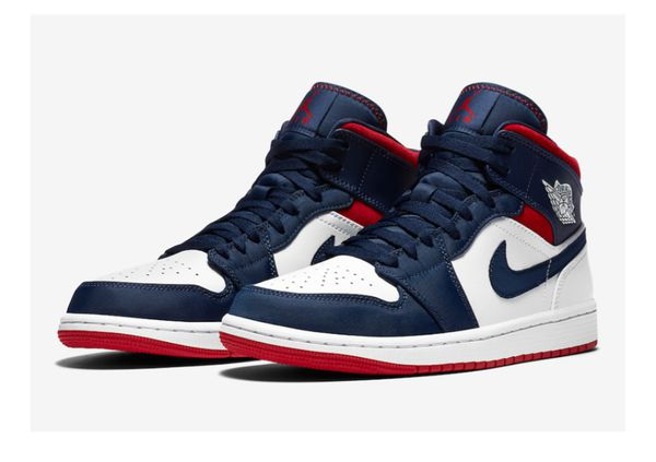 "Air Jordan 1 mid ""Olympic"" USA (2020) - Multiple Sizes"