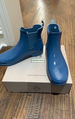 Hunter short rain boots, size 7, blue, new for Sale in Carrollton, TX