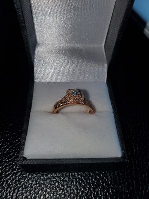 Rose Gold Diamond Engagement and Wedding Rings Set for Sale in Charlotte, NC