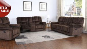 COMFY NEW BARCELONA MICROFIBER RECLINING SOFA, LOVESEAT AND CHAIR IN CHOCOLATE. FALL CLEARANCE SALES EVENT!! SAME DAY DELIVERY! NO CREDIT CHECK FINAN for Sale in St. Petersburg, FL