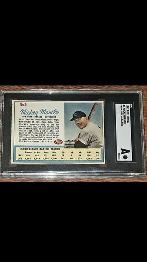 * 1962 MICKEY MANTLE POST CEREAL BASEBALL CARD * AUTHENTICATED * EXCELLENT CONDITION! for Sale in Lafayette, CA