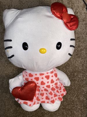 Large hello kitty with heart in hand and heart dress electric feet movement for Sale in Burbank, CA