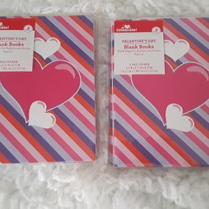 Valentine's Day New 2pk (8pc) Blank Books Both For $5 for Sale in El Cajon, CA