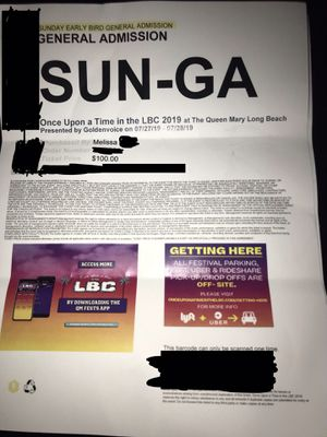 Selling my two tickets for Sundays event $150 OBO for Sale in Los Angeles, CA