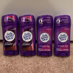 Lady Speed Stick invisible solid deodorant 2.3 oz: 4/$7 for Sale in Alexandria, VA