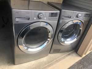 LG TRUESTEAM WASHER AND DRYER STAINLESS STEEL for Sale in Woodlawn, MD