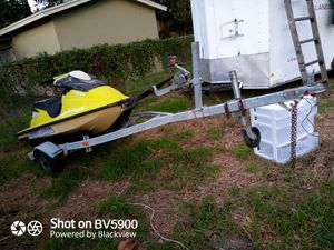 Waverunner jet ski trailer with 97 Sea-Doo bombardier not running for Sale in Hollywood, FL