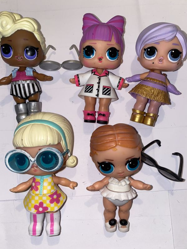Lol Dolls lot of 5