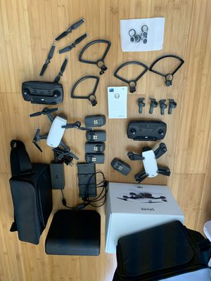 DJI Spark (fly more) + extra drone for parts and more for Sale in Ewa Beach, HI