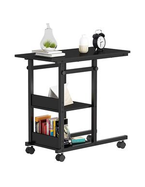 Height Adjustable Black Side Table End Table Bedside Table, Nightstand for Living Room, Easy Assembly - Black for Sale in Orange, CA