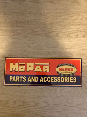 MOPAR Parts and Accessories porcelain sign for Sale in St. Charles, IL