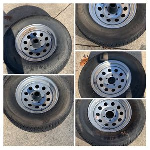 Size 5 Rims Tires from 2017 Keystone Travel Trailer for Sale in Southgate, MI