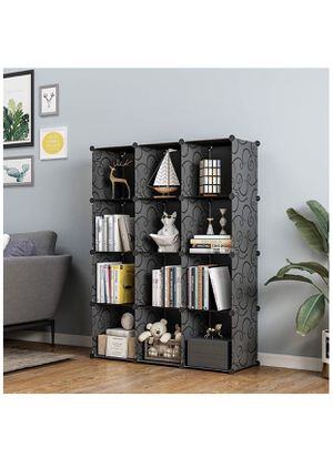KOUSI Cube Storage Cube Organizer Cube Storage Shelves Cubby Organizing Closet Storage Organizer Cabinet Shelving Bookshelf Toy Organizer (Black (var for Sale in Riverside, CA