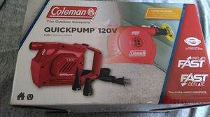 🏕️.Coleman quikpump 120v.🏕️ for Sale in Los Angeles, CA