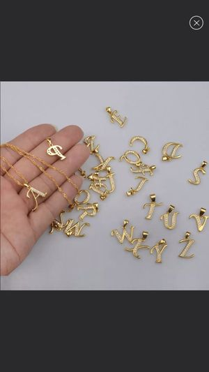 New 18k gold plated letter necklace for Sale in Cumming, GA