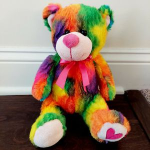 Colorful Rainbow Valentine Teddy Bear for Sale in Winterville, NC