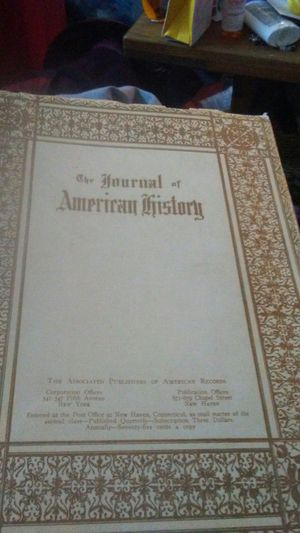 1910 3rd quarter The Journal of AMerican History for Sale in Pittsburgh, PA