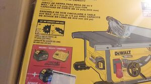 Ddewalt table saw for Sale in San Clemente, CA