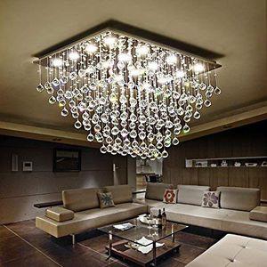 Modern K9 Crystal Raindrop LED Chandelier Lighting Flush Mount for Dining Room, Bathroom, Bedroom, and Living room for Sale in Henderson, NV