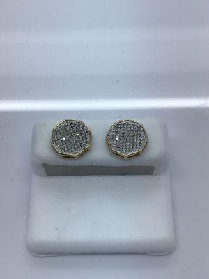 10k yellow gold earrings 0.33 diamonds new for Sale in Renton, WA