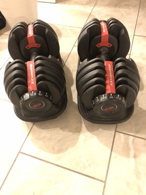 Bowflex dumbbells and bench for Sale in North Las Vegas, NV