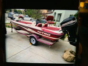 Bass Boat with Nitro trailer for Sale in Murrieta, CA