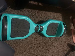 Light blue hoverboard Bluetooth work good wrong problem Is that one of the things that you plug the charger is missing and you get the charger for fr for Sale in Los Angeles, CA