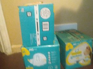3 box of newborn diapers. 140 diapers per box for Sale in Detroit, MI
