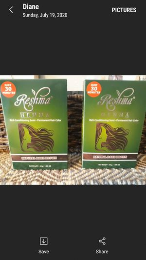2 henna hair color dark brown new.$7each/$15 both for Sale in Montebello, CA