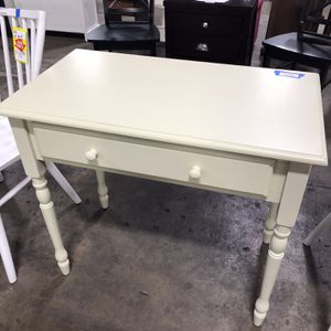 On Sale‼️ 34 In Rectangular Antique Ivory 1 Drawer Writing Desk for Sale in Houston, TX